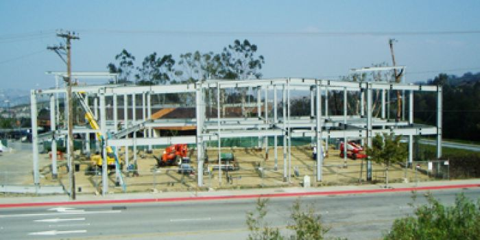 structural steel project, California